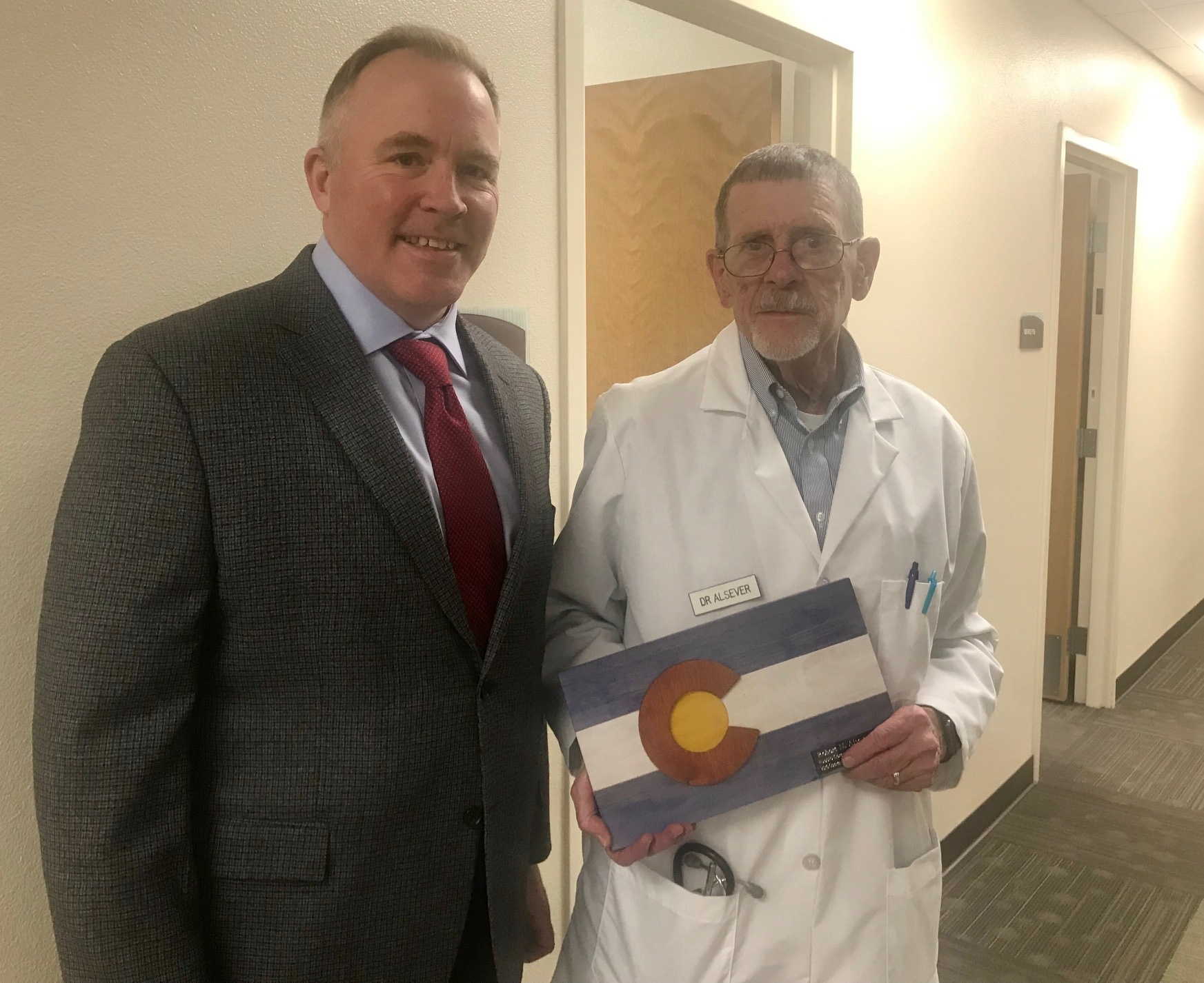 Donald Moore pictured with Dr. Alsever