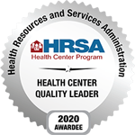 HRSA Health Center Quality Leader 2020 Badge