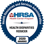 HRSA Health Disparities Reducer 2020 Badge