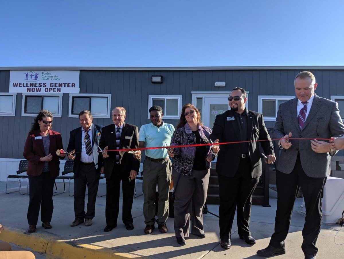 PCHC board members cutting the ribbon for new School-Based Wellness Center