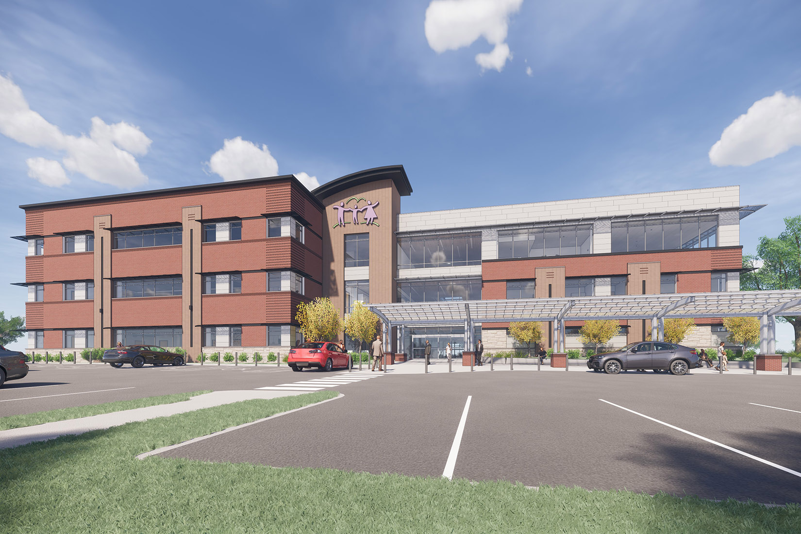PCHC east side expansion rendering - front