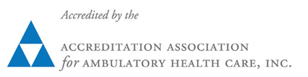 Logo showing PCHC is accredited by the Accreditation Association for Ambulatory Health Care, Inc.