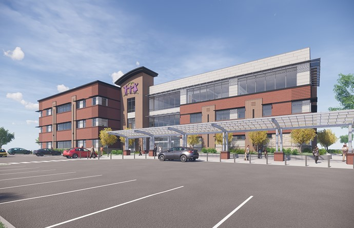 Rendering of East Side Clinic