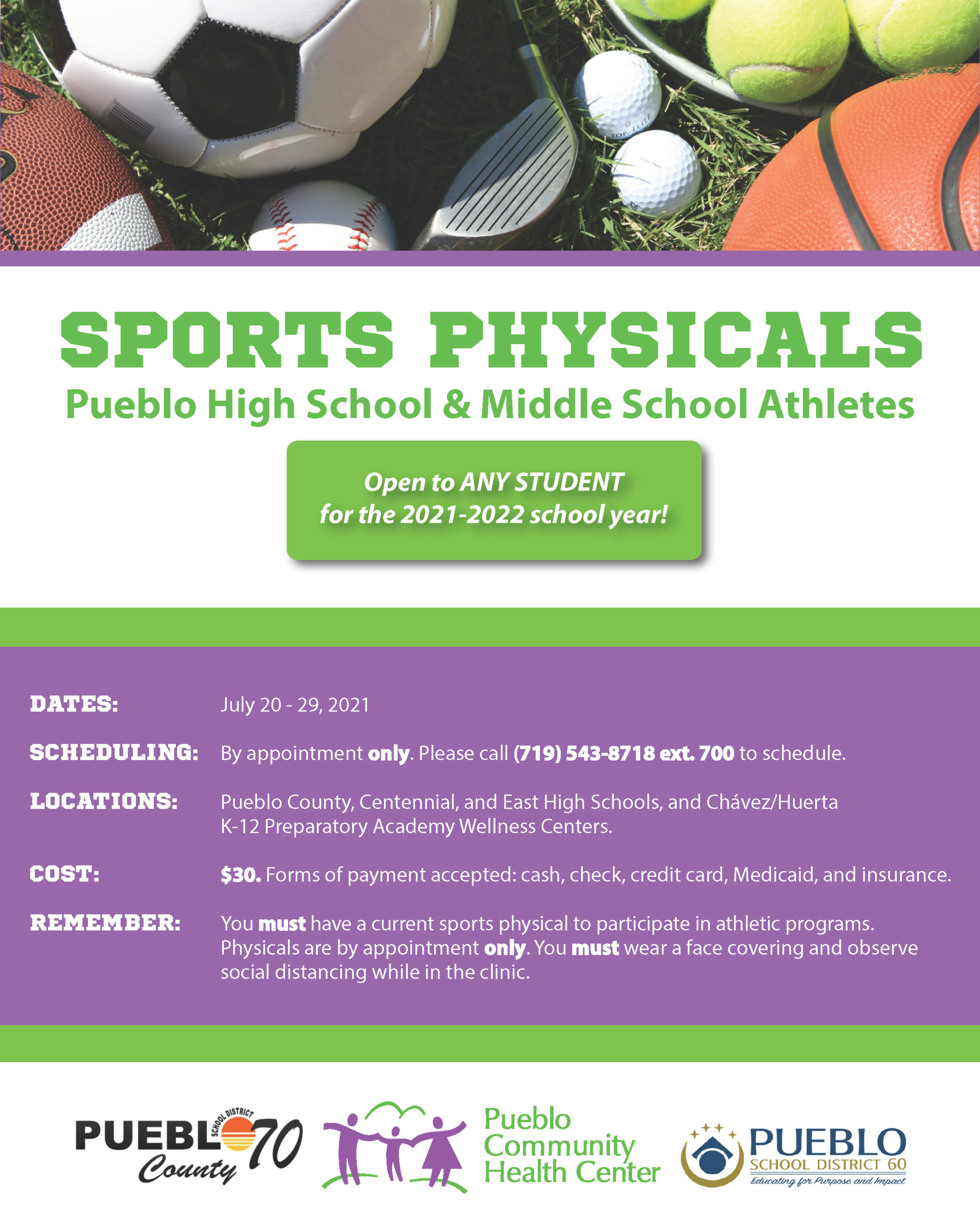2021 SBWC Sports Physicals Flyer